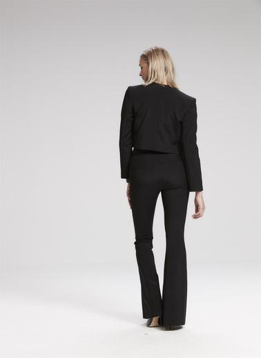 Rue Kısa Blazer Ceket Siyah